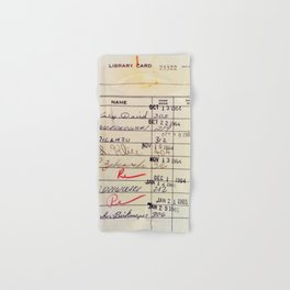 Library Card 23322 Hand & Bath Towel