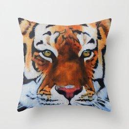 Gazing Tiger Throw Pillow