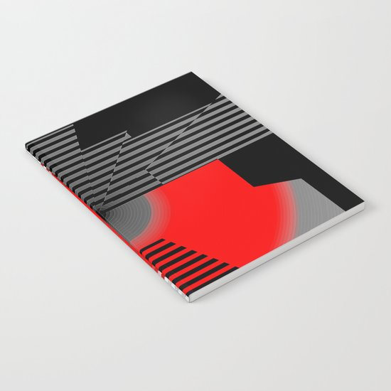 black and white meets red Version 4 Notebook