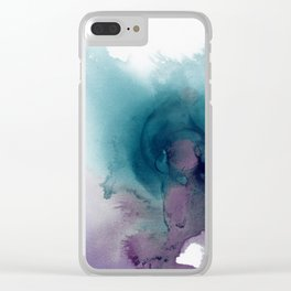Teal Ultra Violet Vortex Clear iPhone Case