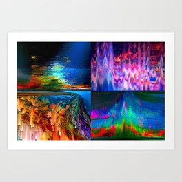 4Glitches Art Print