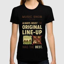 Original Line-up — Music Snob Tip #098 T-shirt
