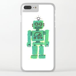 Just Robot. Clear iPhone Case