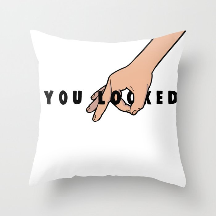 The Circle Game: You Looked Throw Pillow
