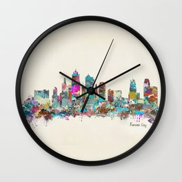 kansas city Missouri skyline Wall Clock