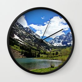 : maroon bells : Wall Clock