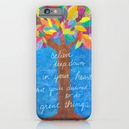 Grateful Tree iPhone Case