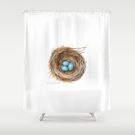 Life is Fragile by Teresa Thompson Shower Curtain