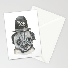 No Dog with yes hat Stationery Cards