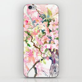 cherry blossom spring floral pattern iPhone Skin