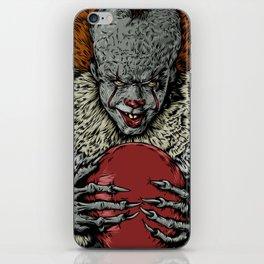 Evil clown iPhone Skin