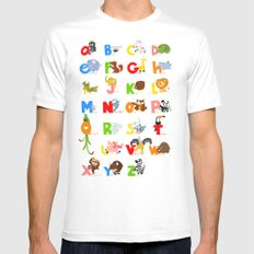 ABC (english) Mens Fitted Tee MEDIUM White