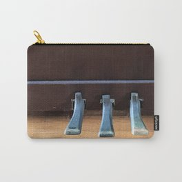 Piano Pedals on Antique Piano Carry-All Pouch