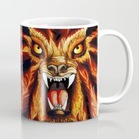 werewolf Mugs featuring Werewolf by BluedarkArt