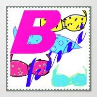 bikini Canvas Prints featuring bikini by Mike van der Hoorn