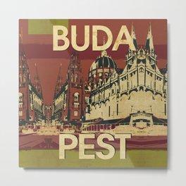 BUDA & PEST Metal Print