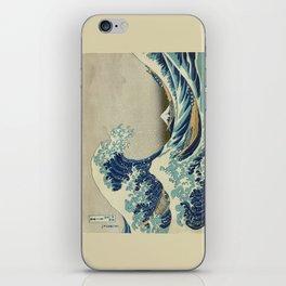 Great Wave Off Kanagawa (Kanagawa oki nami-ura or 神奈川沖浪裏) iPhone Skin
