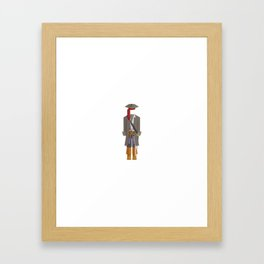 Caribbean Captain/Pirate Outfit Minimal Sticker Framed Art Print