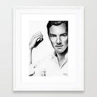cumberbatch Framed Art Prints featuring Benedict Cumberbatch by Denda Reloaded