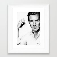 benedict Framed Art Prints featuring Benedict Cumberbatch by Denda Reloaded