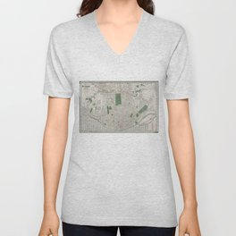 Vintage Map of St. Louis Missouri (1921) Unisex V-Neck