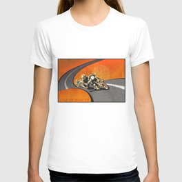 vintage Isle of Man TT motor race poster T-shirt