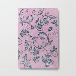 Rose quarts and aquamarine gems Metal Print