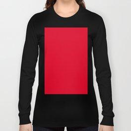 Cadmium Red Long Sleeve T-shirt