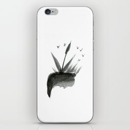 The two things abstract work, watercolor iPhone Skin
