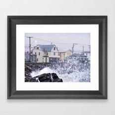 Exploding Sea Spray Framed Art Print