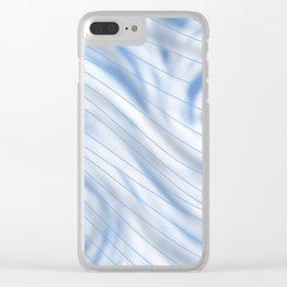 Blue Stripe on Blue Swirl Clear iPhone Case