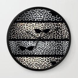 ANIMAL PRINT CHEETAH DIVA BLACK AND WHITE Wall Clock