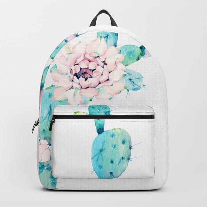 Desert Cactus Rose Backpack