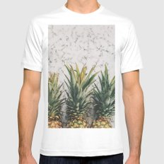 Pineapple Luxe MEDIUM White Mens Fitted Tee