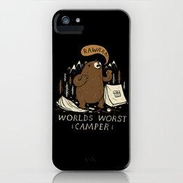 worlds worst camper iPhone Case