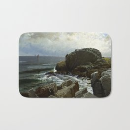 Castle Rock, Marblehead, 1878 by Alfred Thompson Bricher Bath Mat