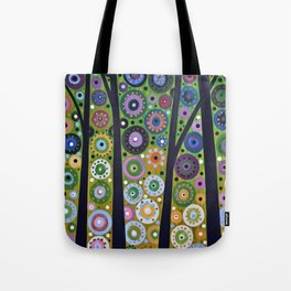 Abstract Art Landscape Original Painting ... Falling Light Tote Bag