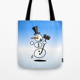 Dancing snowman Tote Bag