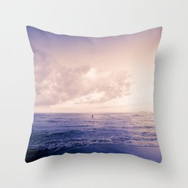 calm day ver.violet Throw Pillow