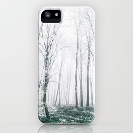White forest iPhone Case