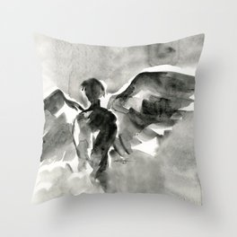 Abstract Angel No.0107 by Kathy Morton Stanion Throw Pillow