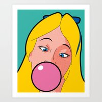 the secret life of heroes Art Prints featuring The secret life of heroes - AliceGum by Greg Guillemin