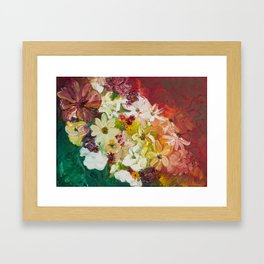 Fun with Flowers Framed Art Print