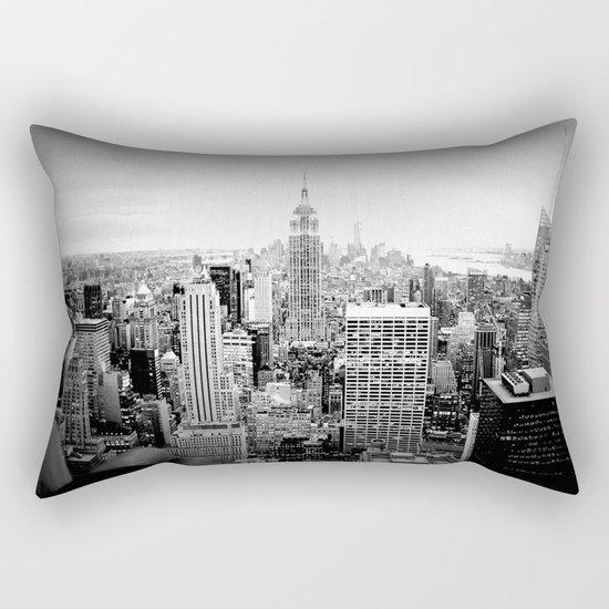 New York City Black & White Rectangular Pillow