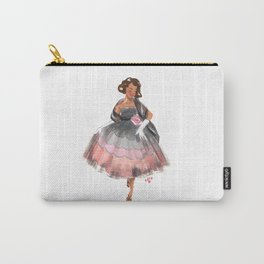 Fashion Illustration – Rose Scallop Dress Carry-All Pouch