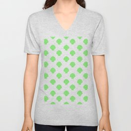 Seashells (Light Green & White Pattern) Unisex V-Neck