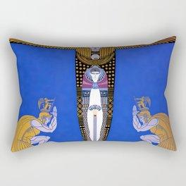 """""""Cleopatra"""" Art Deco Design by Erté Rectangular Pillow"""