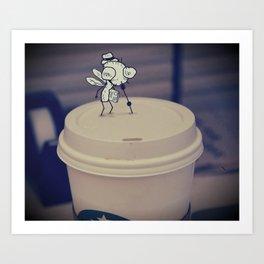 Coffee Bug Doodle Art Print