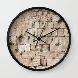 Vegetation on the Wailing Wall (Kotel) - Kotel art - Wall Fine Wall Clock
