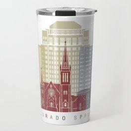 Colorado Springs skyline poster Travel Mug